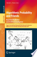 Algorithmic Probability And Friends Bayesian Prediction And Artificial Intelligence