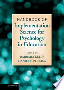 Handbook Of Implementation Science For Psychology In Education book