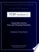 Transit Bus Service Line And Cleaning Functions