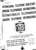 International Telephone Directory