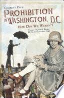 Prohibition In Washington D C