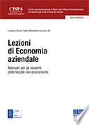 Lezioni di economia aziendale  Manuale per gli studenti delle facolt   non economiche