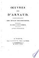 Oeuvres de d'Arnaud. ...
