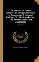 MEMOIRS OF JACQUES CASANOVA DE
