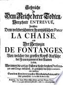 Gespr  che in dem Reiche derer Todten     zwischen dem weltber  hmten Franz  sischen Pater La Chaise und der Herzogin De Fontanges