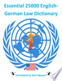 Essential 25000 English-German Law Dictionary Resource Anywhere You Go; It Is An