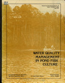 Water Quality Management in Pond Fish Culture