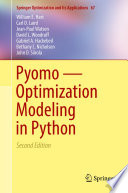 Pyomo     Optimization Modeling in Python