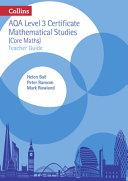 AQA Level 3 Certificate Mathematical Studies (Core Maths)