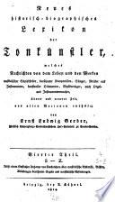 Neues historisch-biographisches Lexikon der Tonkünstler