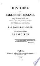 Histoire du parlement anglais