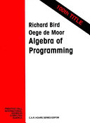 Algebra of Programming