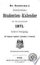 Oesterreichischer Studenten-Kalender ... für das Studienjahr