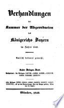 Verhandlungen der Kammer der Abgeordneten des Königreichs Bayern
