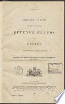 Verzameling Britse Rapporten Verslagen En Andere Stukken Betreffende Staatsadministratieve Juridische Onderwerpen Betrekking Hebbende Op Cyprus