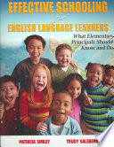 Effective Schooling for English Language Learners