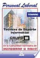 Tecnicos de soporte informatico de la comunidad de castilla y le  n  Temario volumen i