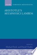 Aristotle's Metaphysics Lambda: Symposium Aristotelicum