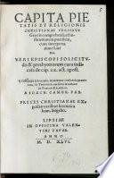 Capita pietatis et religionis Christianae