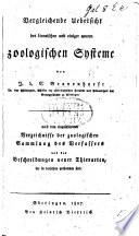 Vergleichende Uebersicht des Linneischen und einiger neuern zoologischen Systeme, etc