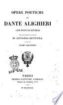 Opere Poetiche di Dante Alighieri