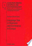 Language use in business and commerce in Europe
