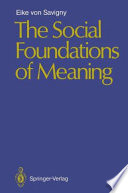 The Social Foundations of Meaning