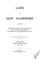 Laws of New Hampshire  Revolutionary period  1776 1784 Book PDF
