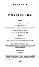 download ebook elements of physiology ... third edition. translated from the french, by g. j. m. de lys, etc pdf epub
