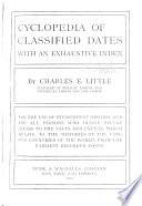 Cyclopedia of Classified Dates