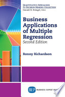 Business Applications Of Multiple Regression Second Edition