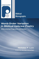 word-order-variation-in-biblical-hebrew-poetry
