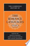 The Cambridge History of the Romance Languages  Volume 2  Contexts