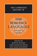 The Cambridge History of the Romance Languages: Volume 2, Contexts