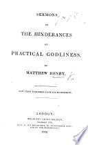 Sermons on the hinderances of practical Godliness  etc Book PDF