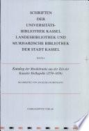 Katalog der Musikdrucke aus der Zeit der Kasseler Hofkapelle