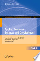 Applied Economics  Business and Development