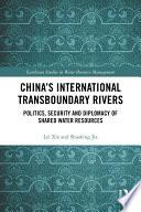 China s International Transboundary Rivers