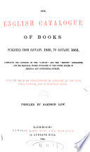 The English Catalogue of Books  v   1   1835 1863 Book PDF