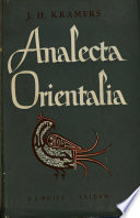 Analecta Orientalia Posthumous Writings and Selected Minor Workds