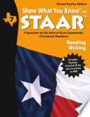 SWYK on STAAR Reading Writing Gr  7  Parent Teacher Edition