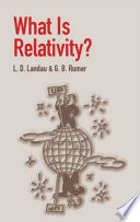 What Is Relativity