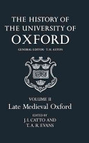 The History Of The University Of Oxford book
