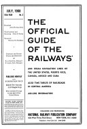 The Official Guide of the Railways and Steam Navigation Lines of the United States  Puerto Rico  Canada  Mexico and Cuba