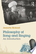 A Philosophy of Song and Singing