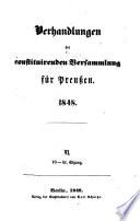 Verhandlungen der constituirenden Versammlung f  r Preussen