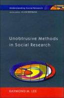 Unobtrusive methods in social research