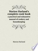 Marion Harland S Complete Cook Book
