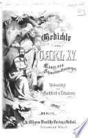 Gedichte von Carl XV  K  nig von Schweden und Norwegen  Uebersetzt von Gottfried von Leinburg   Selections
