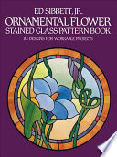 Ornamental Flower Stained Glass Pattern Book